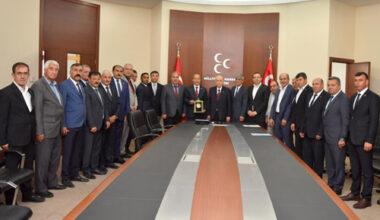 MHP'li başkanlar Ankara'da talepleri ilettiler