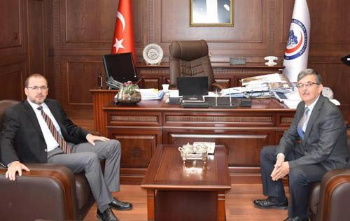 Akın'dan Rektör Okumuş'a ziyaret