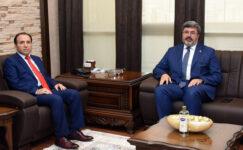Rektör Karakaş, ziyaretleri kabul etti