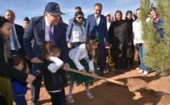 Afyon'da 142 bin fidan toprakla buluştu