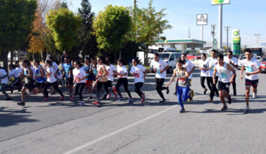 Atletler, Atatürk Yol Koşusu'nda ter döktü