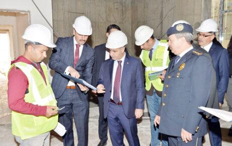 Genel Müdür Aktaş yeni  Emniyet binasını inceledi