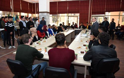 Misafir öğrencilerle tanışma toplantısı düzenlendi