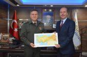 Tuğgeneral Alp, Başkan Bozkurt'u ziyaret etti