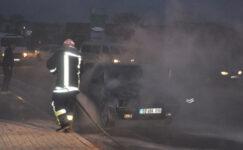 Otomobil yangını korkuttu