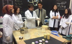 AFSÜ ve BİLSEM öğrencileri geri dönüşümle doğal sabun üretti