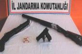 Jandarma uyuşturucu ve silah ele geçirdi