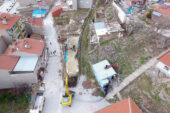 İscehisar'da metruk binalar yıkılıyor