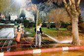Şehrin dört bir yanı dezenfekte ediliyor
