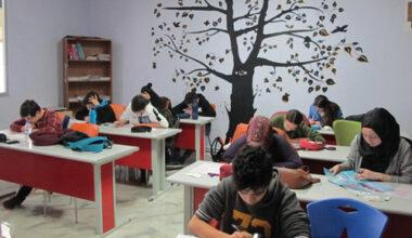 Ayza'nın bursluluk sınavına bin 243 öğrenci katıldı
