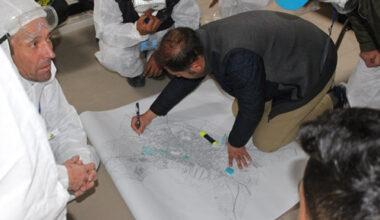 Emirdağ'da dezenfekte ekibi koordineli çalışıyor