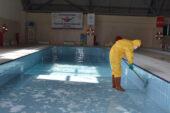 Havuz da dezenfekte edildi