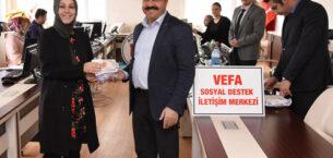 """Belediye'den """"Vefa  Sosyal Destek Grubu"""" görevlilerine moral ziyareti"""