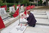 Bayram'da şehit mezarları  ziyaret edildi