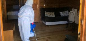 Akdağ'da dezenfekte çalışmaları sürüyor