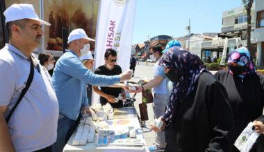 """Ayasofya Camii açılışında """"Afyon Lokumu"""" dağıtıldı"""