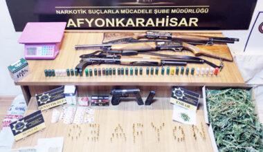 Afyon merkezli uyuşturucu  operasyonunda 11 kişi yakalandı