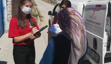 Kızılay gönüllüleri çalışmaları sürdürüyor