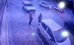 3 otomobilin karıştığı  zincirleme kaza kamerada