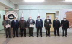 Emekli personele şeref belgesi verildi