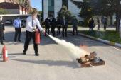 Yangın tatbikatı YAPILDI