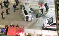 Takla atan otomobilden yaralı kurtuldu